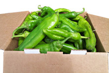 New Mexico Sichler Farms Chile.  Available in 1904 Mild, Big Jim Medium, Sandia Hot, and Miss Junie Hotter. 1/2 bushel fresh chile yields approximately 6 quarts baggies of chile after roasting.