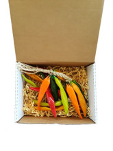 The chile strand can be purchased as a gift and has an option to purchase a beautiful sturdy gift box with a burlap bow for your ease and convenience.