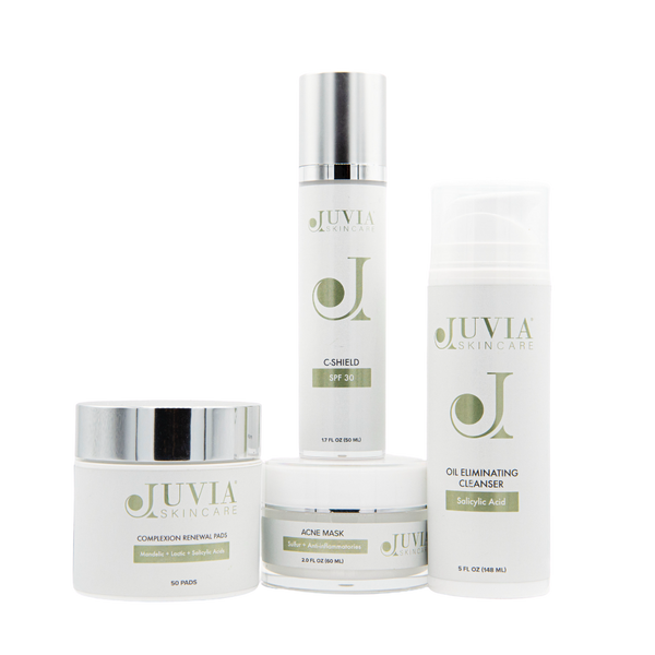 Our Acne Kit includes everything you need to help cleanse, treat and soothe acne-prone skin.