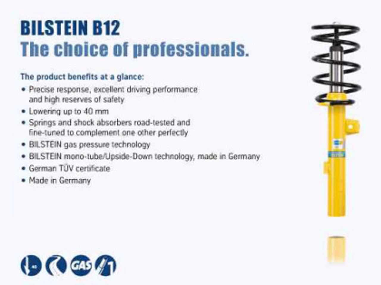 Bilstein B12 (Pro-Kit) 14-16 Mini Cooper S L4 2.0L Front and Rear Suspension Kit