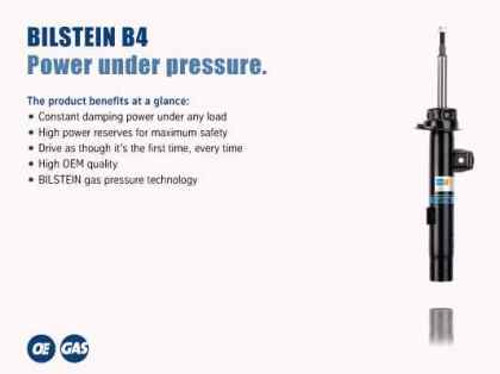 Bilstein B4 2014 Mini Cooper w/o Electronic Damping Left Front Twintube Shock Absorber