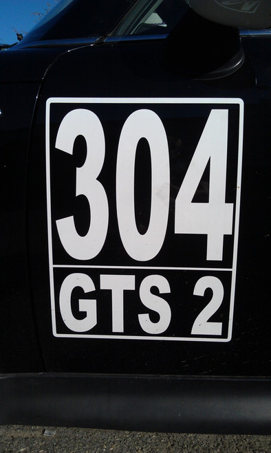 NASA SCCA Race Number Plate Decal Set