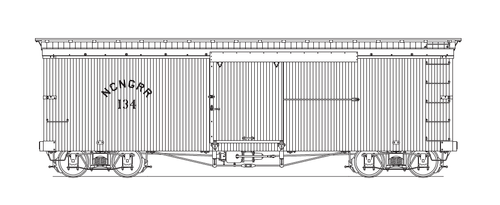 Layout for HOn3 NCNG Box Car.
