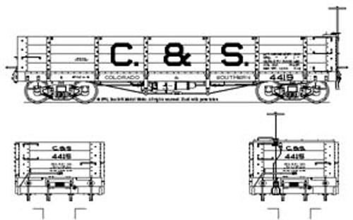 Sn3 C&S Coal Car Block Lettering