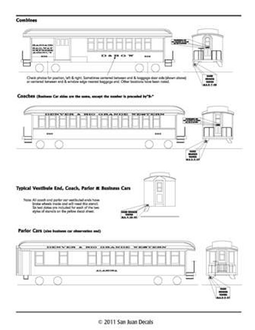 On3 D&RGW Passenger Car 1912-1951 Dulux Gold
