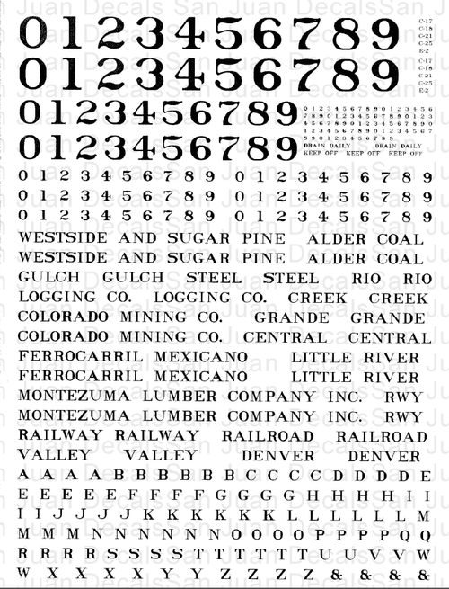 This decal, actually printed in white, can be used on On3, On30 and O Scale locomotives.