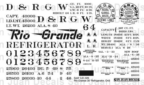 "1/2""n3 D&RGW #32-81 30' Refrigerator Car"