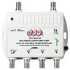 PCT International PCT-MA2-4PN 4 Port RF Multimedia Cable TV Drop Amplifier with Passive Return Path - front view