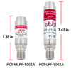 PCT-MLPF-1002A Low Pass MoCA Filter for Ethernet to Coax Applications with Surge Protection and Port Seal size comparison