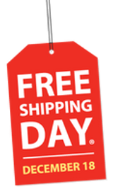 It's Free Shipping Day with Delivery Guaranteed by Christmas Eve!