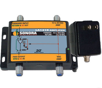 Sonora LA141R-T SWM 14dB Gain Line Amp with 12V Power Supply