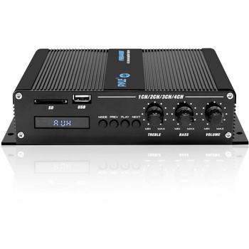 Pyle PFMRA440BB Marine Amplifier - 400 W RMS - 4 Channel - Class D