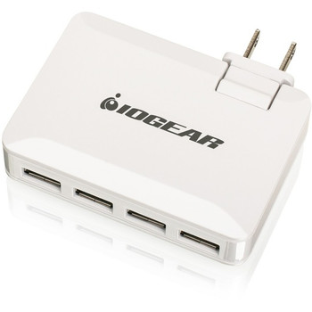 IOGEAR QuadSmart USB 4.2A Wall Charger