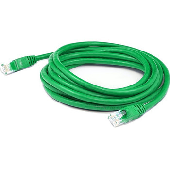 AddOn 5ft RJ-45 (Male) to RJ-45 (Male) Straight Green Cat6A UTP PVC Copper Patch Cable