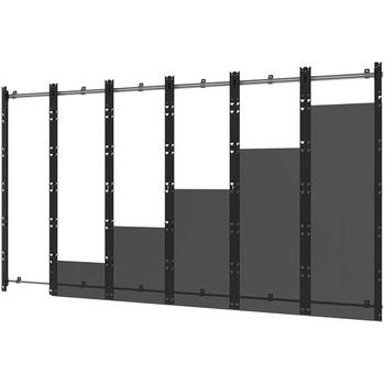 Peerless-AV SEAMLESS Kitted DS-LEDLSCB-6X6 Wall Mount for LED Display, Video Wall - Black, Silver