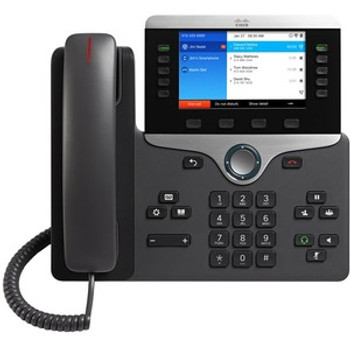 Cisco 8861 IP Phone - Corded/Cordless - Corded - Bluetooth - Wall Mountable, Desktop - Black