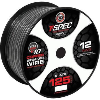 METRA 12 AWG 125 Ft Black OFC Speaker Wire - v10 Series