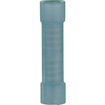 The InstallBay Blue Nylon Butt Connector 16-14 Gauge Package of 100