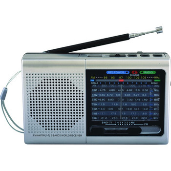 Supersonic 9 Band Bluetooth Radio SC-1080BTSLV