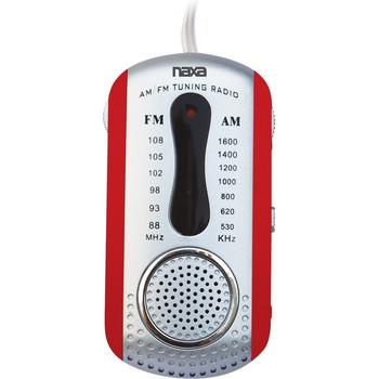 Naxa AM/FM Mini Pocket Radio with Built-In Speaker NR721RD