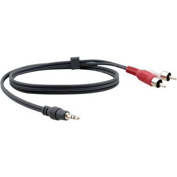 Kramer 3.5mm (M) to 2 RCA (M) Breakout Cable 95-0122010
