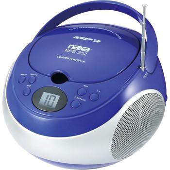 Naxa Portable MP3/CD Player with AM/FM Stereo Radio NPB252BL