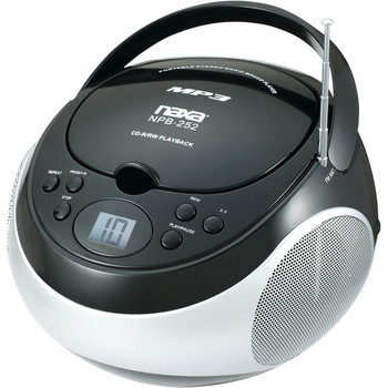 Naxa Portable MP3/CD Player with AM/FM Stereo Radio NPB252BK