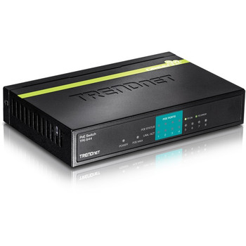 TRENDnet 8-Port 10/100Mbps PoE Switch, 4 x 10/100 Ports, 4 x 10/100 PoE Ports, 30W PoE Power Budget, 1.6 Gbps Switching Capacity, 802.3af, Lifetime Protection, Black, TPE-S44