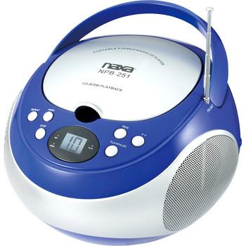 Naxa Portable CD Player with AM/FM Stereo Radio NPB251BL