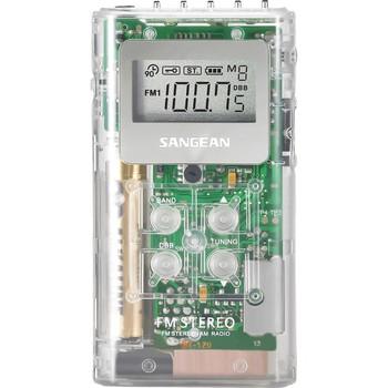 Sangean DT-120 AM/FM Stereo Pocket Radio dt-120-clear