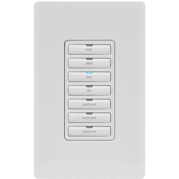 AMX Metreau 7-Button Ethernet Expansion Keypad FG5793-13-BL