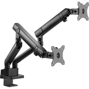 """Aluminum Mechanical Spring Dual Monitor Mount - 17"""" to 32"""