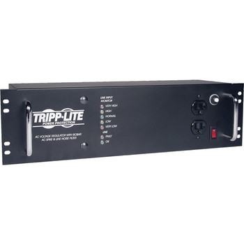 Tripp Lite 2400W Rackmount Line Conditioner w/ AVR / Surge Protection 120V 20A 60Hz 14 Outlet 12ft Cord Power Conditioner