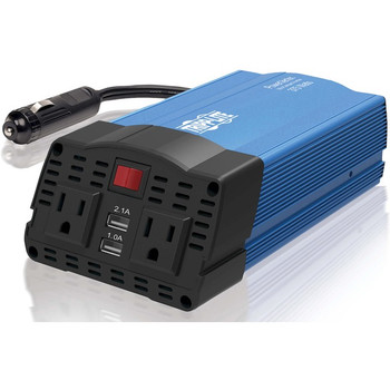 Tripp Lite 375W Car Power Inverter 2 Outlets 2-Port USB Charging AC to DC
