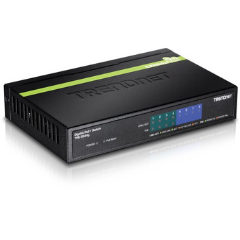 TRENDnet 8-Port Gigabit GREENnet PoE+ Switch, 4 x Gigabit PoE-PoE+ Ports, 4 x Gigabit Ports, 61W Power Budget, 16 Gbps Switch Capacity, Ethernet Unmanaged Switch, Lifetime Protection, Black, TPE-TG44G