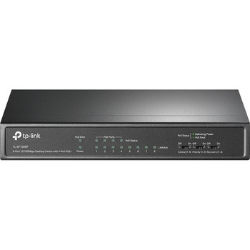 TP-LINK TL-SF1008P 10/100Mbps 8-Port Fast Desktop POE Switch with 4 POE Ports