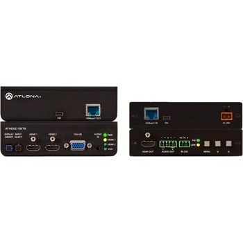 Atlona HDBaseT TX/RX with Three-Input Switcher and HD Scaler