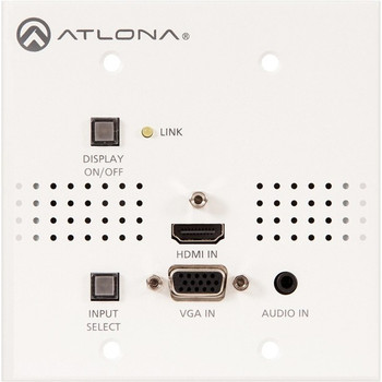 Atlona Two-Input Wall Plate Switcher for HDMI and VGA Sources with HDBaseT Output