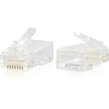 C2G RJ45 Cat6 Modular Plug for Round Solid/Stranded Cable - 100pk