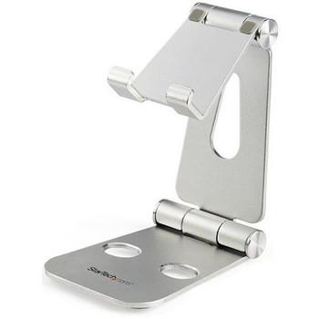 StarTech.com Phone and Tablet Stand - Foldable Universal Mobile Device Holder - Smartphones/Tablets - Adjustable Cell Phone Stand for Desk USPTLSTND