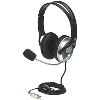 Manhattan Classic Stereo Headset with Flexible Microphone Boom 175555