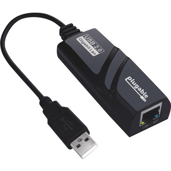 Plugable USB 2.0 To Gigabit Ethernet Adapter, Fast And Reliable Gigabit Connection USB2-E1000