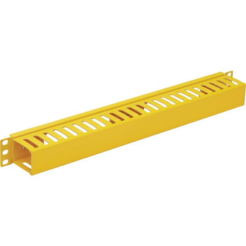 Tripp Lite Horizontal Cable Manager - Finger Duct with Cover, Yellow, 1U SRCABLEDUCT1UFC