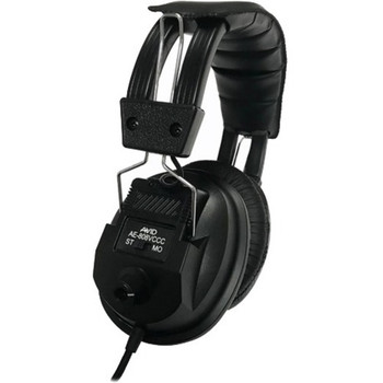 Avid Education AE-808 Switchable Stereo/Mono Headphone with Voume Control, Black 1AE808VCCCBKCS32
