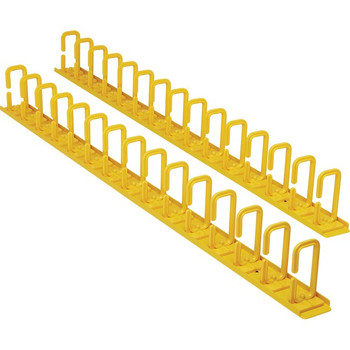 Tripp Lite Vertical Cable Manager - Flexible Rings, Yellow, 6 ft. (1.8 m) SRCABLERINGVRTF