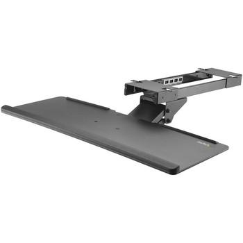 StarTech.com Under Desk Keyboard Tray - Adjustable - Keyboard Drawer - Computer Keyboard Stand - Keyboard Shelf 26.4in W - Keyboard Shelf KBTRAYADJ