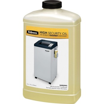 Fellowes Powershred® High Security Shredder Oil ? 32 Oz. Bottle 3505801