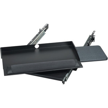 """Black Box RM385 19"""" Sliding Pivoting Keyboard Tray with Mouse Tray RM385"""
