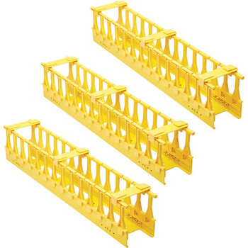 Tripp Lite High-Capacity Vertical Cable Manager - Double Finger Duct, Yellow, 6 ft. (1.8 m) SRCABLEVRT3FC