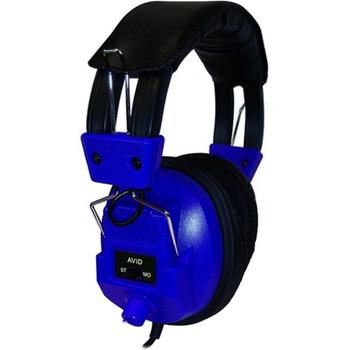 Avid Education AE-808 Switchable Stereo/Mono Headphone with Voume Control, Blue 1EDUAE808BLUE